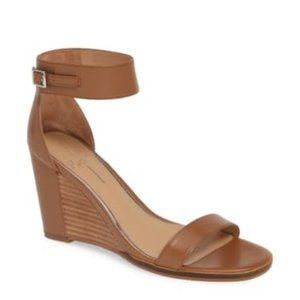 Linea Paolo NEW Elodie Leather Wedge Heel Sandals